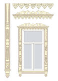 Wooden decorations for the window. Set of wooden decorations for the window Royalty Free Illustration