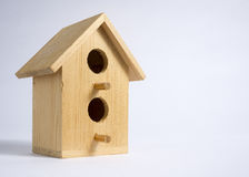 Wooden Decorative Bird Apartment Stock Images