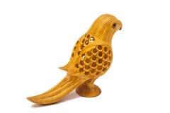 Wooden Decorative Bird Sculpture Royalty Free Stock Photo