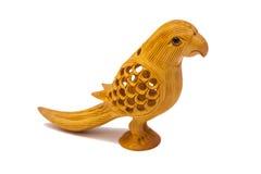 Wooden Decorative Bird Sculpture Stock Image