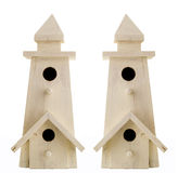 Wooden Decorative Birdhouses Royalty Free Stock Image