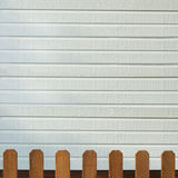 Wooden decorative fence and  wall Stock Photos