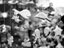 Wooden decorative fishes Stock Images