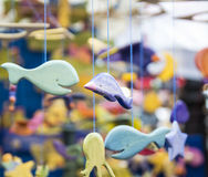 Wooden decorative fishes Stock Image