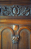 Wooden decorative notches Stock Photography