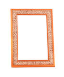 Wooden decorative picture frame Royalty Free Stock Image