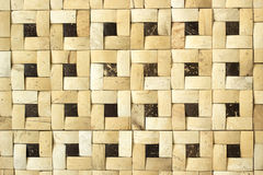 Wooden decorative wall made from natural material Royalty Free Stock Photography