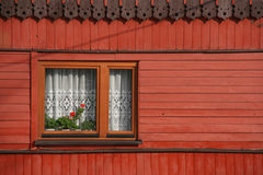 Wooden decorative window Royalty Free Stock Photos