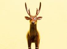 Wooden deer carving. Handmade of wooden deer carved royalty free stock photos