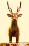 Wooden deer carving. Handmade of wooden deer carved stock photos