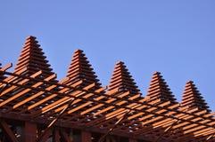 Wooden design building Stock Photo