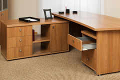 Wooden desk Stock Photography