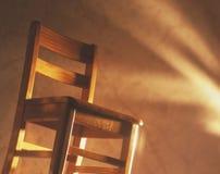 Wooden desk chair Stock Photos