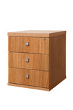 Wooden desk cupboard Royalty Free Stock Image