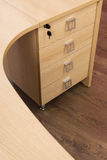 Wooden desk with drawers Stock Photo