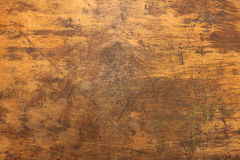 Wooden Desk Texture Close Up. Close up shot of distressed wooden desk top texture Royalty Free Stock Photo