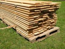 Wooden desks Royalty Free Stock Photo