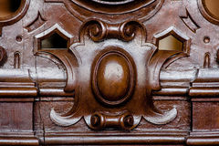 Wooden detail of old vintage chair macro or Stock Photos