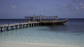 Wooden Dhoni at the Jetty, Maldives Royalty Free Stock Photography