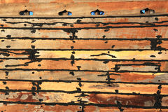 Wooden Dhow Texture Study Royalty Free Stock Photos