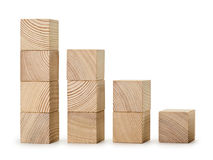 The wooden diagramme Royalty Free Stock Photo