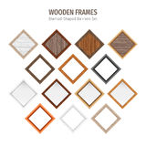 Wooden Diamond-Shaped Banners Set Royalty Free Stock Photos