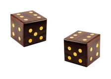 Wooden dice Royalty Free Stock Photography
