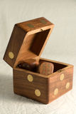 Wooden dice Royalty Free Stock Images