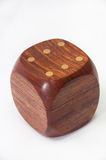 Wooden dice with blank sides for text Royalty Free Stock Image
