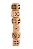 Wooden dice for board game Royalty Free Stock Images