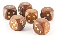Wooden dice gambling Stock Image