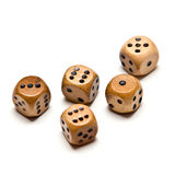Wooden dice (isolated) Royalty Free Stock Photography