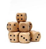 Wooden Dice Royalty Free Stock Image
