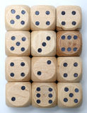 Wooden Dice Stock Images