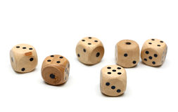 Wooden Dice Stock Photography