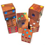 Wooden dices Royalty Free Stock Photos