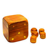 Wooden dices Stock Photo