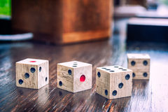 Wooden dices Stock Photography