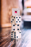 Wooden dices Stock Image