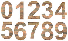 Wooden Digits Royalty Free Stock Photo