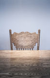 Wooden Dining room table and chair details Royalty Free Stock Image