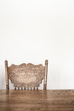 Wooden Dining room table and chair details Stock Images