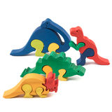 Wooden dino toys Stock Photography
