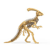 A wooden Dinosaur skeleton Royalty Free Stock Photos