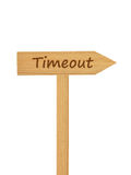 Wooden direction arrow on timber needle Stock Image