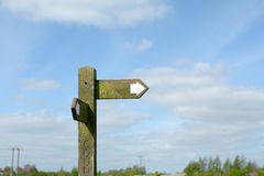 Wooden direction post Stock Photos