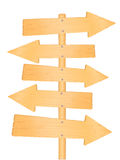 Wooden direction road signs Stock Photo