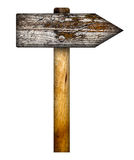 Wooden direction sign. Royalty Free Stock Image
