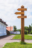 Wooden direction sign post Stock Photos