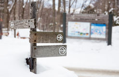 Wooden direction sign Stock Image